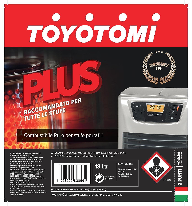Toyotomi - Combustible universal Toyotomi Plus, 18 litros: Amazon.es: Bricolaje y herramientas