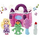 Kleeger Plush Talking Baby Girl Princess Castle Play Set (4 Pcs - Play's Sounds) with Pink Storage Box | Cute, Super Soft Toys for Toddlers & Older Kids | Great Gift Idea