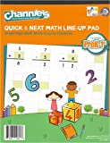 "Channie's LR3778 Math Lineup Workbook for Prek-1ST Grades, 80 Pages Strong Paper, 8.5"" x 11"" with Hardboard Back, White"