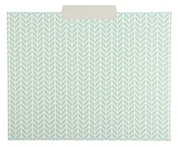 Decorativo Surtidos Funda carpeta de archivos Set - 6 diferentes geométrico amarillo gris luz azul diseños - Carta tamaño con œ pulgada corte superior de ...