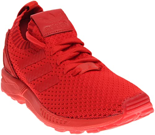new styles fadf0 01e40 adidas Men's Zx Flux Primeknit Red/Ankle-High Cross Trainer Shoe - 10.5M