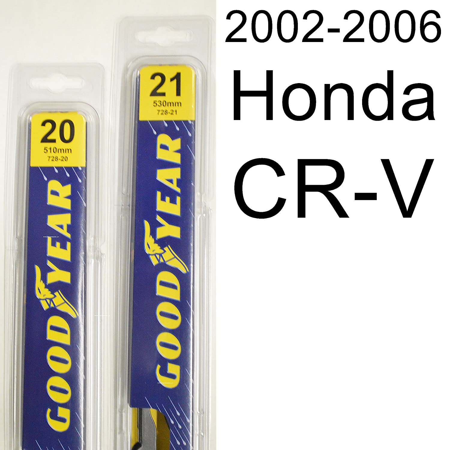 Amazon.com: Honda CR-V (2002-2006) Wiper Blade Kit - Set Includes 21