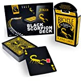 United States Playing Card Company - Jeu Carte llusionnisme Magie - Black Scorpion Deck - Bicycle Playing Cards
