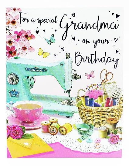 Tarjeta de felicitación de cumpleaños para abuela, diseño ...