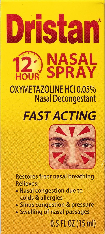 Dristan 12-Hour Decongestant Nasal Spray (0.5 fl. oz. Bottle): Health & Personal Care