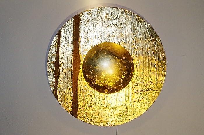 Design Leuchte Wandlampe Ikarus 61 Gold Und Rost Wandleuchte Rund