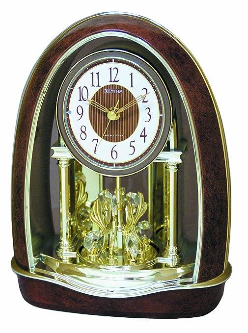 Amazon.com: Rhythm Classic Nightingale Reloj de mesa: Home ...