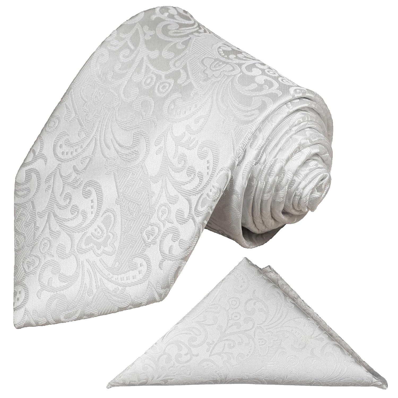 Paul Malone - Corbata de boda - Floral - Hombre blanco blanco ...