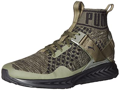 6fb60fa4d9cb32 PUMA Men s Ignite Evoknit Cross-Trainer Shoe Burnt Olive Forest Night  Black