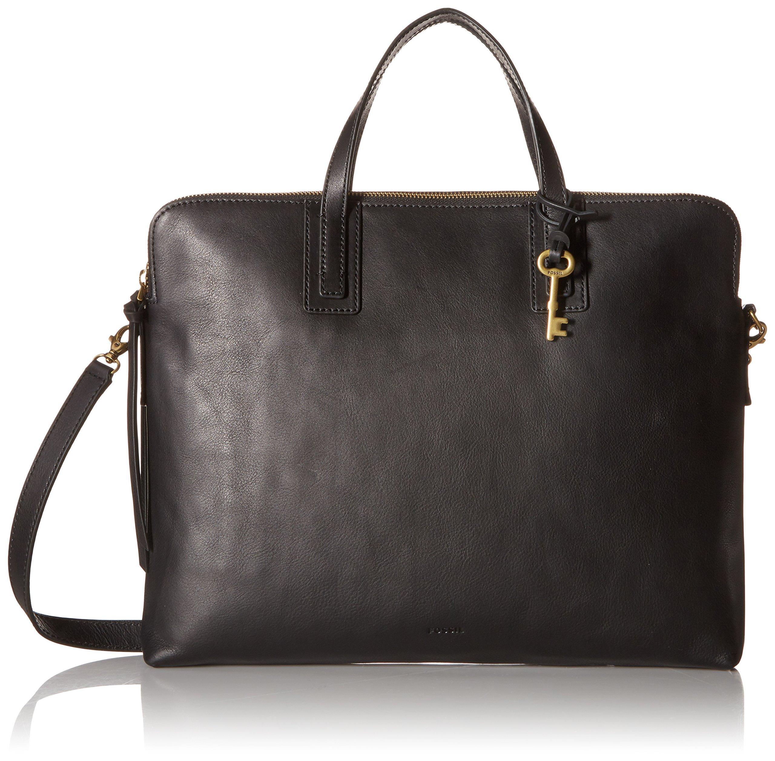 Fossil Emma Laptop Bag, Black, One Size