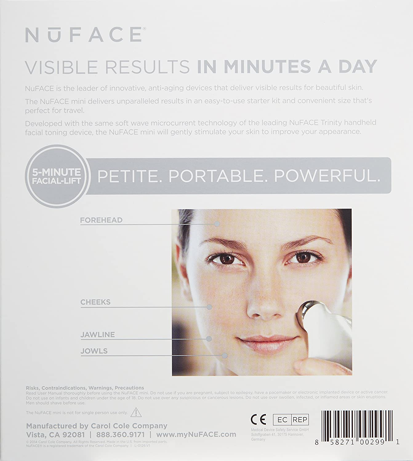 Nuface Limited Edition Mini Facial Toning Device Black Amazonco Mask Beauty