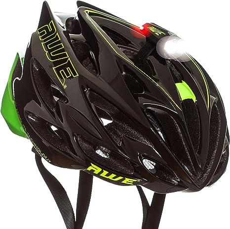 Alumbrado frontal y trasero, de AWE, luz led de casco con 360 ...