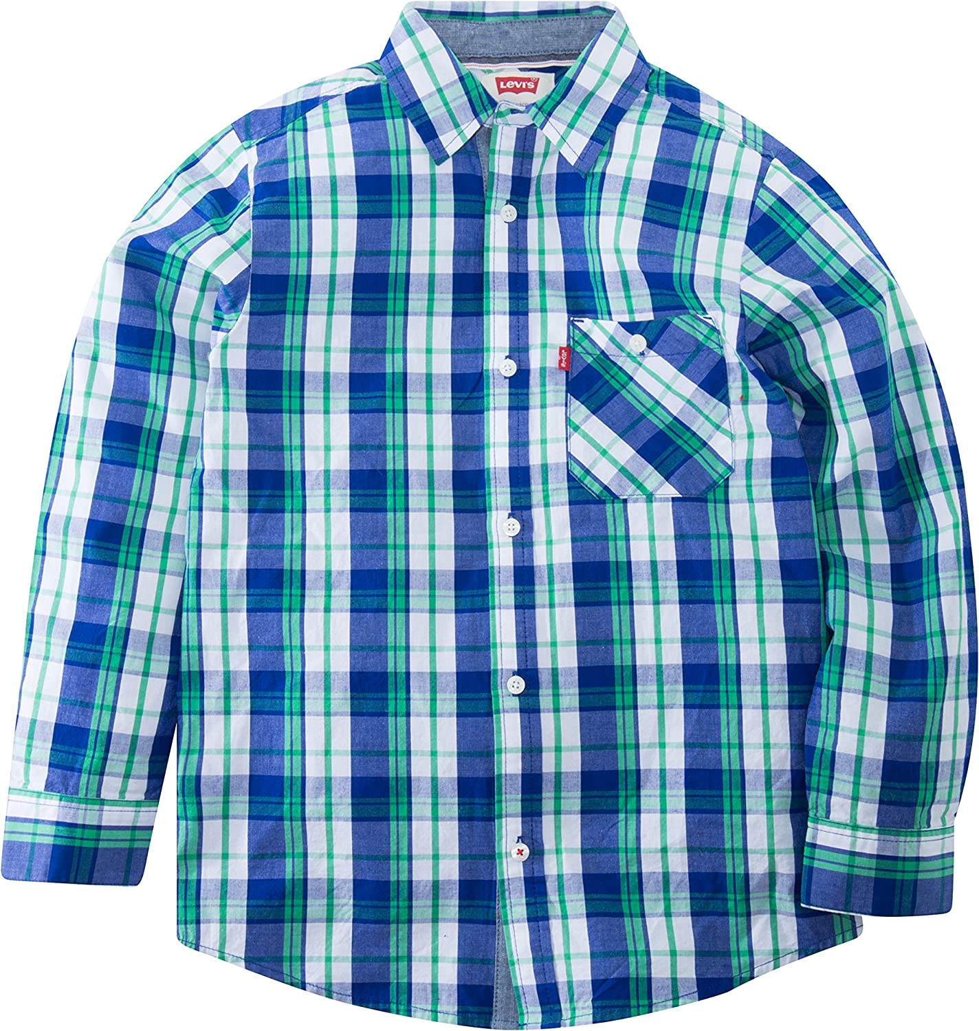 Levis Long Sleeve One Pocket Shirt Camisa con Cuello Abotonado para Niños: Amazon.es: Ropa y accesorios