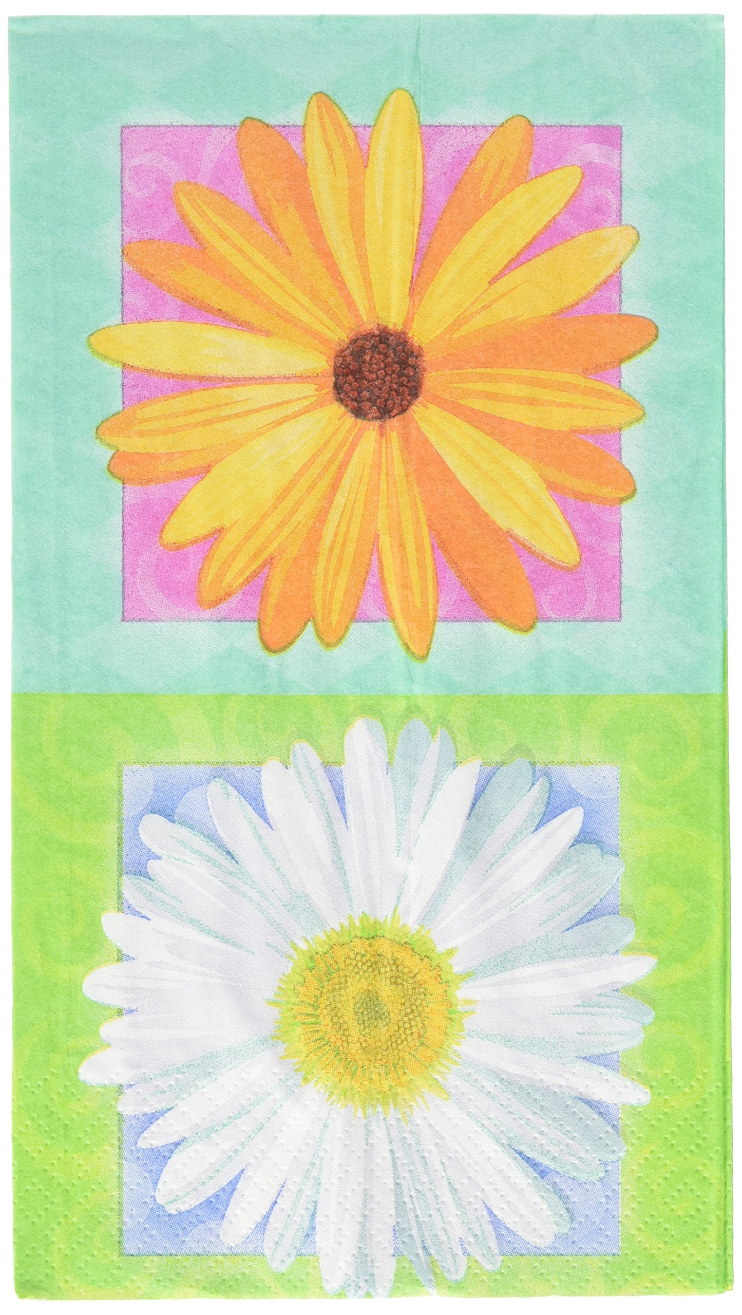 Amscan in Bloom Daisy Guest Towels   192 Ct.