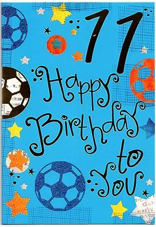 Birthday Card For Eleven 11 Year Old Boy