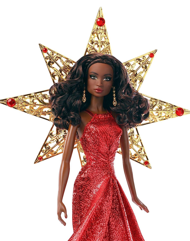 Amazoncom Barbie 2017 Holiday Nikki Black Hair With Red Dress Doll