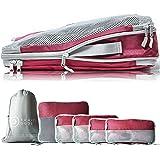 TRAVEL DUDE Organizador de Maletas con Bolsas de Compresión para Equipaje | Bolsas Organizadoras Maleta | Easy Travel…