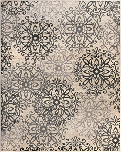 Superior Millbrae Collection Area Rug 8 x 10 – Kitchen,Dining, Living Room – Oatmeal