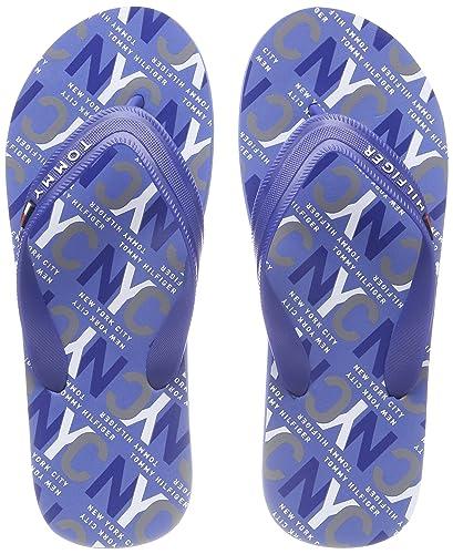 0f318c2b3 Tommy Hilfiger Men s City Print Beach Sandal Flip Flops  Amazon.co ...