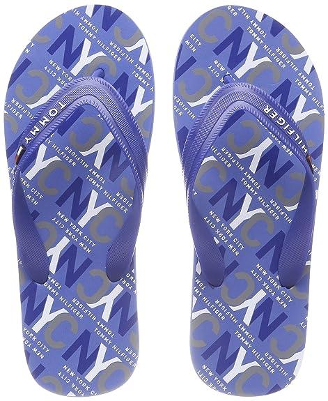 48b99c8f3b3e59 Tommy Hilfiger Men s City Print Beach Sandal Flip Flops  Amazon.co ...