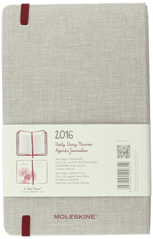 Moleskine El Principito - Agenda diaria 2016, 12 meses, tamaño grande, color gris
