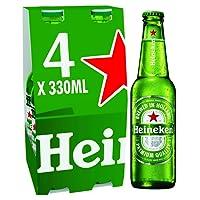 Heineken Premium Lager Beer Bottle, 4 x 330 ml