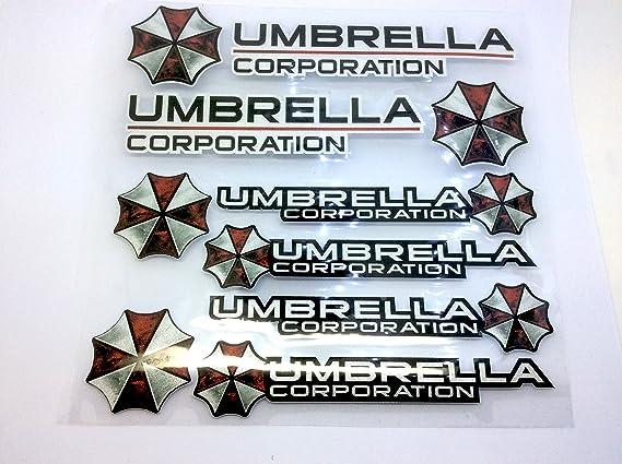Umbrella Corporation Resident Evil Großes Auto Aufkleber Decal Set Drei Sport Freizeit