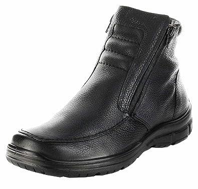 0a742a3a369748 Jomos Stiefel schwarz Winter Echt-Leder Lammfell Herren Schuhe  416501-21-000