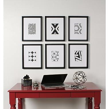 Kate and Laurel Calter Framed Art Set, 6 Piece, Black