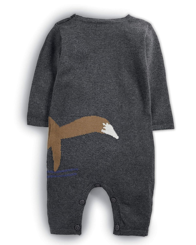 Mamas /& Papas Baby-Jungen Schneeanzug Fox Knit Romper