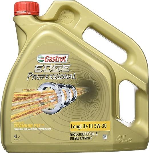 37 opinioni per 4 L Litro olio motore CASTROL EDGE FST LONGLIFE III 5W30