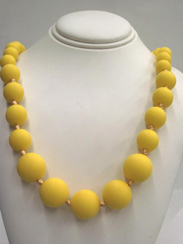 ファッションの Chewable Teething Beads. Necklace for Teething Babies Is or Nursing Cord Moms. Strand of Graduating Size 12mm, 14mm, and 18mm Bright Yellow Beads. Cord Is Knotted Between Each Beaded for Added Safety. Soft Silicone Food Safe Beads. BPA Free Non Toxic. by Favor Jewels B00GHQBBW2, ホヌホヌ:1c01a1fb --- a0267596.xsph.ru