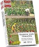 Busch HO 1214 Pepinos y tomates - Plantas en miniatura (plástico y metal, 25 mm, 6 unidades)