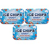 ICE CHIPS Xylitol Candy Tins (Salted Caramel, 3 Pack)