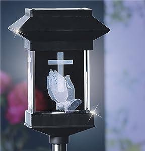 14'' Solar LED Memorial 3D Crystal Light