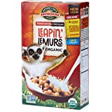 Nature's Path EnviroKidz Peanut Butter & Chocolate Leapin' Lemurs Cereal, Healthy, Organic, Gluten-Free, 10 Ounce Box