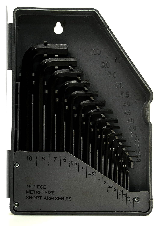 Bastex Allen Wrench /& Hex Key 30PC Tool Set Metric and SAE Standard Short Long Steel W2 TL 2 ALLEN-30PCS-SET TIN