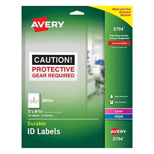 Amazon Avery Durable Id Labels Permanent Adhesive 5 X 8 18
