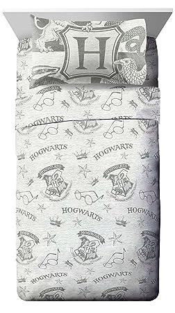 Jay Franco Harry Potter Spellbound 4 Piece Full Sheet Set, Gray