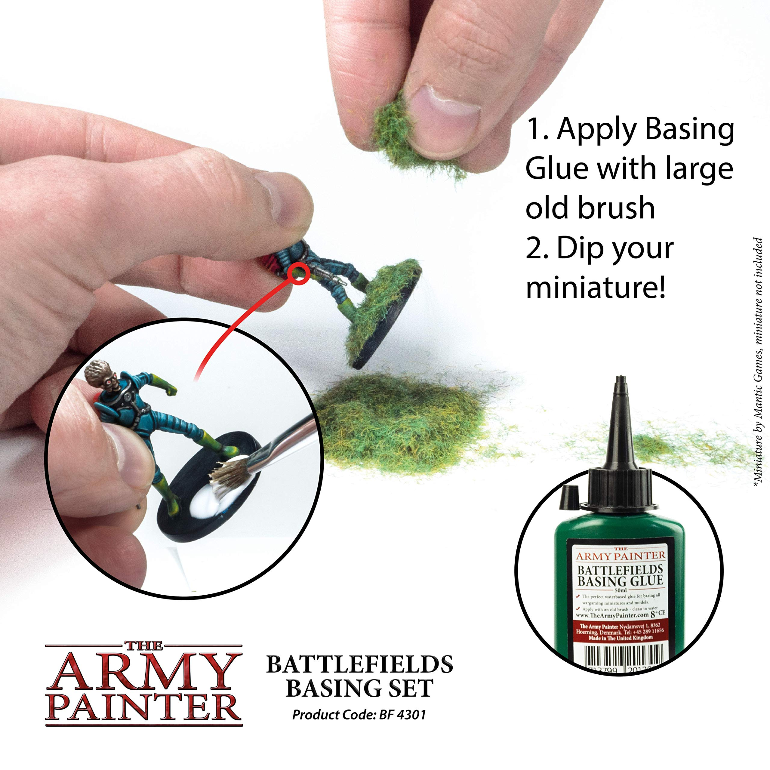 The Army Painter Battlefields Basing Set - Wargamers Terrain Model Kit for Miniature Bases and Dioramas with Landscape Rocks, Scenic Sand, Static Grass, Grass Tufts and Free Basing Glue by The Army Painter (Image #5)