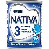 Nestlé NATIVA 3 - Leche de crecimiento en polvo - Fórmula infantil - A partir de los 12 meses - 800g