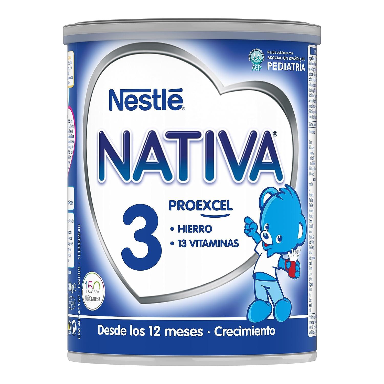 NESTLÉ NATIVA 3 - A partir de los 12 meses - Leche de crecimiento en polvo - Fórmula infantil - 800g: Amazon.es: Amazon Pantry