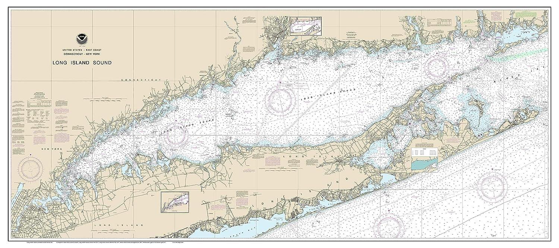 Long Island Sound Nautical Chart Travel Bag
