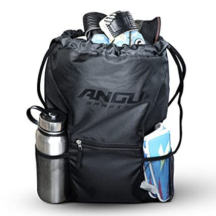 5fc09c603f0 Amazon.com  ANGU SPORTS Youth Soccer Bag with Ball Holder for Kids ...