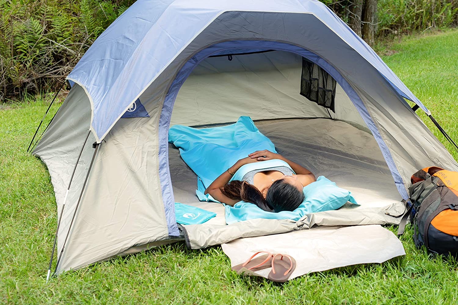 Pike Trail Sleeping Bag Liner Lightweight and Compact Insert with Full Length Zipper and Guarantee Travel and Camping Sheet