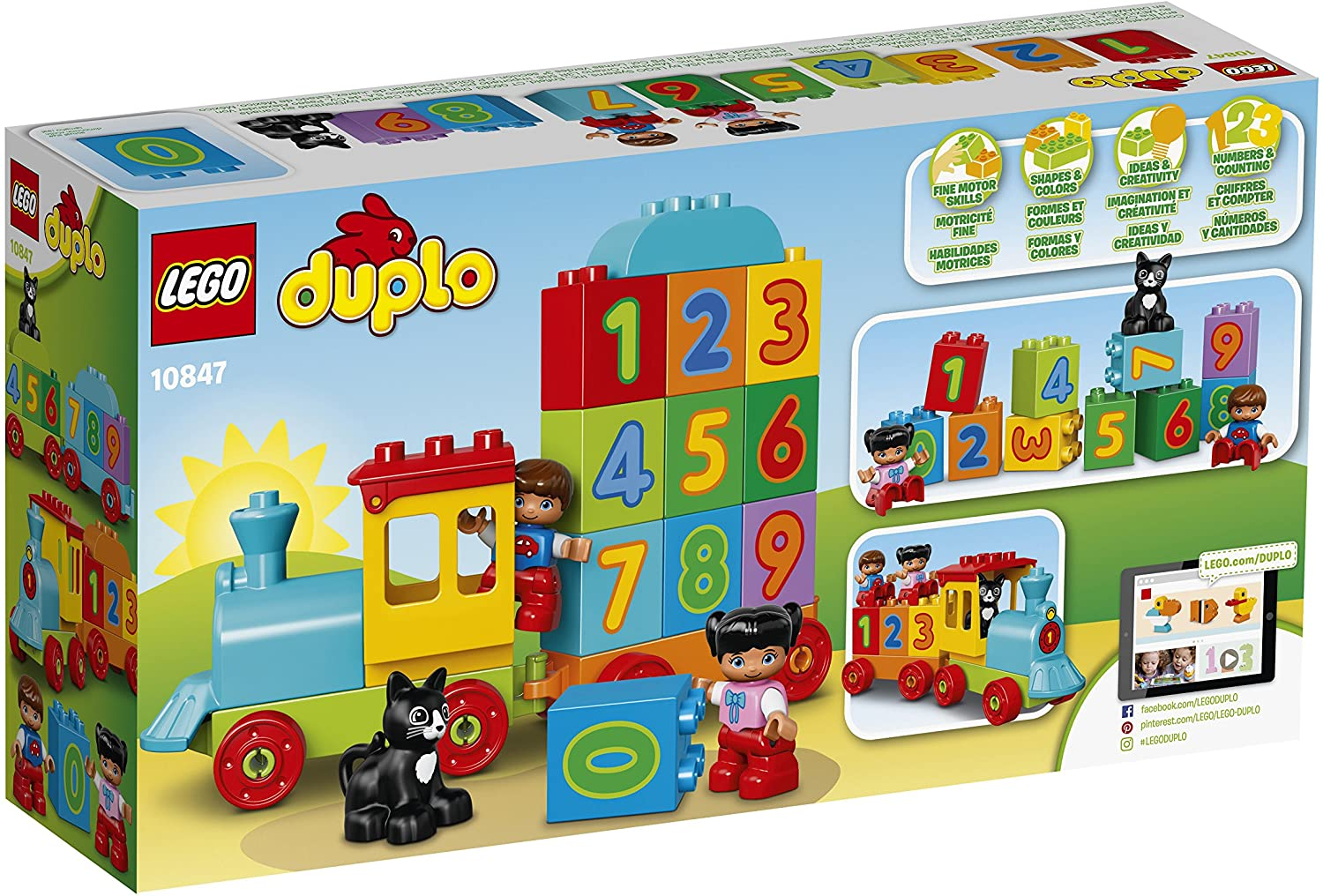 LEGO 10847 Duplo My First Number Train Toy with Number Decorated Bricks Early