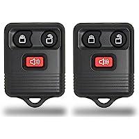 KeylessCanada © New Keyless Entry 3 Button Remote Car Key Fob Fobik for Ford Explorer F150 Escape Edge Ranger Fusion etc. with DIY Programming (2 Pack)