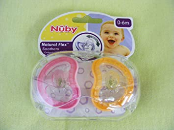 Amazon.com: Nuby Natural Flex ortodoncia Chupetes 0 – 6 ...