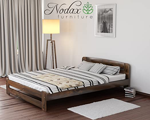 New Solid Bed Frame The ONE with slats Walnut Double