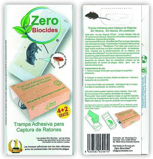 Zero Biocides 6 Trampas para Ratones con atrayente incorporando Fabricadas en España: Amazon.es: Jardín